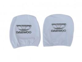Чехол подголовника с логотипом Daewoo белый (2 шт.) Украина
