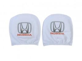 Чехол подголовника с логотипом Honda белый (2 шт.) Украина