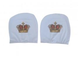 Чехол подголовника с логотипом Корона белый (2 шт.) Украина