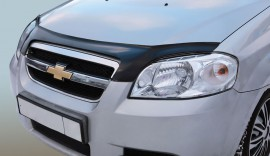 Дефлектор капота Chevrolet Aveo 2006-2011 седан АБС Azard
