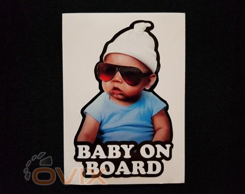 Украина Наклейка на автомобиль Baby on board, цветная (h=120 мм, l=85 мм) - Картинка 1