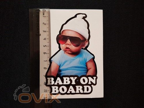 Украина Наклейка на автомобиль Baby on board, цветная (h=120 мм, l=85 мм) - Картинка 5