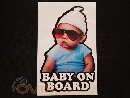 Украина Наклейка на автомобиль Baby on board, цветная (h=205 мм, l=130 мм) - Картинка 1
