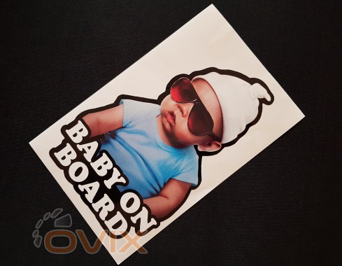 Украина Наклейка на автомобиль Baby on board, цветная (h=205 мм, l=130 мм) - Картинка 2