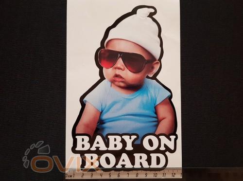 Украина Наклейка на автомобиль Baby on board, цветная (h=205 мм, l=130 мм) - Картинка 4