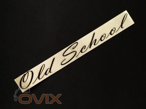 Украина Наклейка на автомобиль Old School, черная (h=38 мм, l=325 мм) - Картинка 2