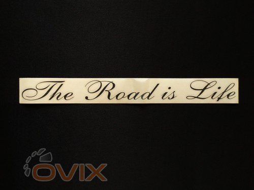 Украина Наклейка на автомобиль The Road is Life, черная (h=38 мм, l=325 мм) - Картинка 1