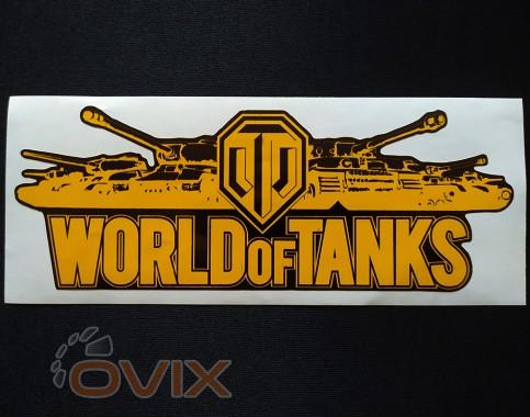 Украина Наклейка на автомобиль World of Tanks, желтая (h=80 мм, l=195 мм) - Картинка 1