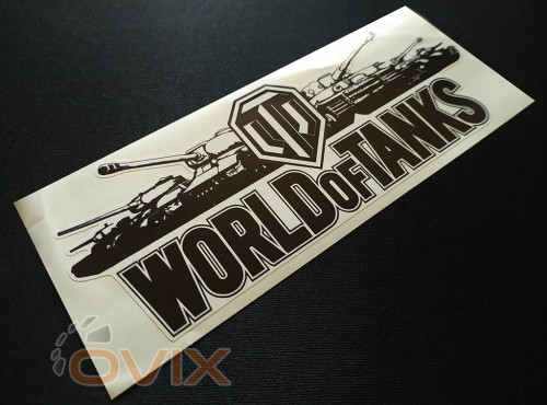 Украина Наклейка на автомобиль World of Tanks, черная (h=80 мм, l=195 мм) - Картинка 2