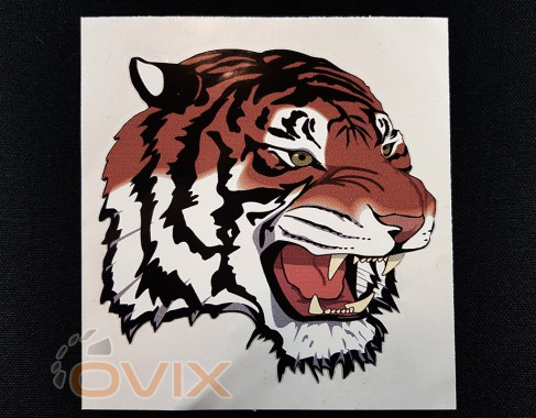 Украина Наклейка на автомобиль Голова тигра, цветная (h=480 мм, l=480 мм) - Картинка 1