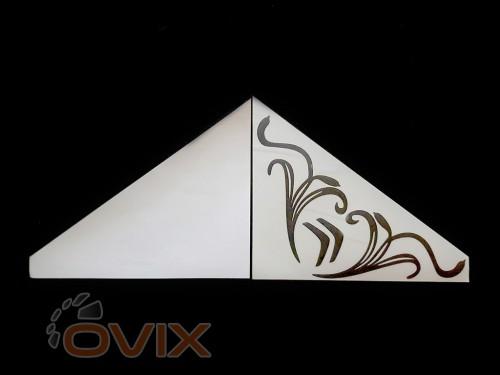 Украина Наклейки на боковые стекла (уголки) - Citroen, черные (h=285 мм, l=330 мм) - Картинка 2