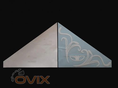 Украина Наклейки на боковые стекла (уголки) - Daewoo, белые (h=285 мм, l=330 мм) - Картинка 2