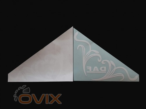 Украина Наклейки на боковые стекла (уголки) - Daf, белые (h=285 мм, l=330 мм) - Картинка 2