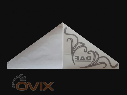 Украина Наклейки на боковые стекла (уголки) - Daf, серебро (h=285 мм, l=330 мм) - Картинка 2