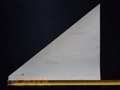 Украина Наклейки на боковые стекла (уголки) - Daf, серебро (h=285 мм, l=330 мм) - Картинка 3