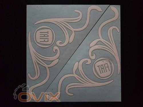 Украина Наклейки на боковые стекла (уголки) - Fiat, белые (h=285 мм, l=330 мм) - Картинка 1