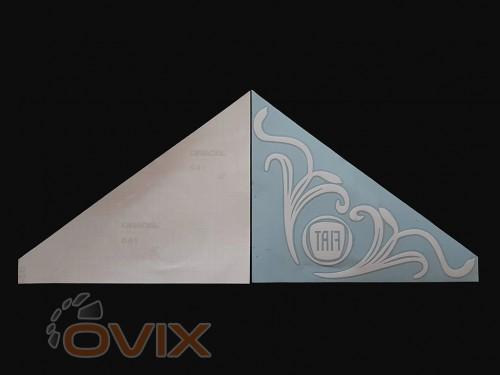 Украина Наклейки на боковые стекла (уголки) - Fiat, белые (h=285 мм, l=330 мм) - Картинка 2