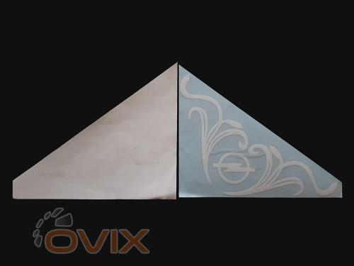 Украина Наклейки на боковые стекла (уголки) - Opel, белые (h=285 мм, l=330 мм) - Картинка 2