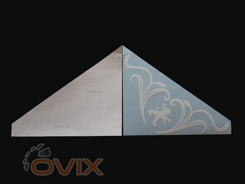 Украина Наклейки на боковые стекла (уголки) - Peugeot, белые (h=285 мм, l=330 мм) - Картинка 2
