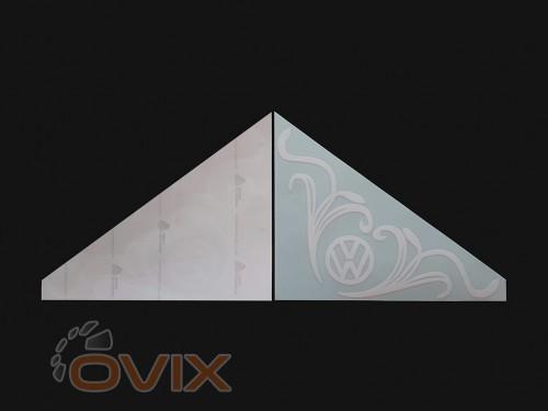 Украина Наклейки на боковые стекла (уголки) - Volkswagen, белые (h=285 мм, l=330 мм) - Картинка 2
