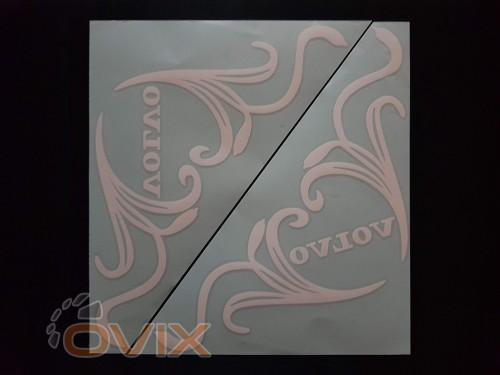 Украина Наклейки на боковые стекла (уголки) - Volvo, белые (h=285 мм, l=330 мм) - Картинка 1