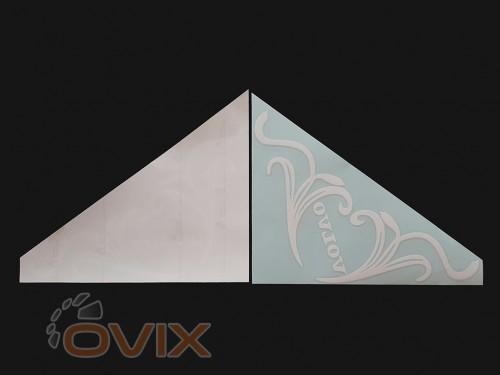 Украина Наклейки на боковые стекла (уголки) - Volvo, белые (h=285 мм, l=330 мм) - Картинка 2