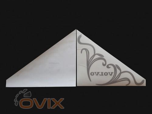 Украина Наклейки на боковые стекла (уголки) - Volvo, серебро (h=285 мм, l=330 мм) - Картинка 2