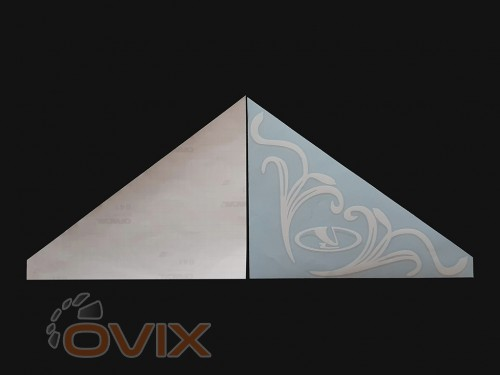 Украина Наклейки на боковые стекла (уголки) - ВАЗ, белые (h=285 мм, l=330 мм) - Картинка 2