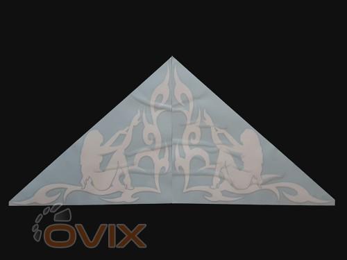 Украина Наклейки на боковые стекла (уголки) - Девушка, белые (h=285 мм, l=330 мм) - Картинка 2
