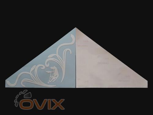 Украина Наклейки на боковые стекла (уголки) - Камаз, белые (h=285 мм, l=330 мм) - Картинка 2