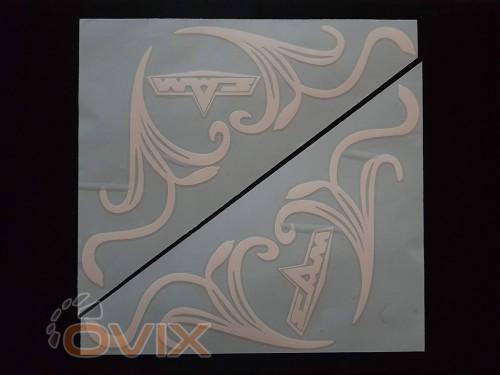 Украина Наклейки на боковые стекла (уголки) - Маз, белые (h=285 мм, l=330 мм) - Картинка 1