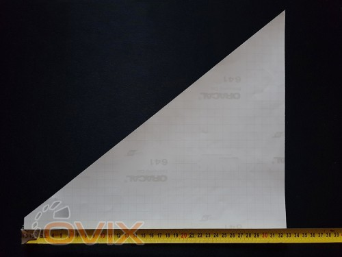 Украина Наклейки на боковые стекла (уголки) - Скорпион, серебро (h=285 мм, l=330 мм) - Картинка 3