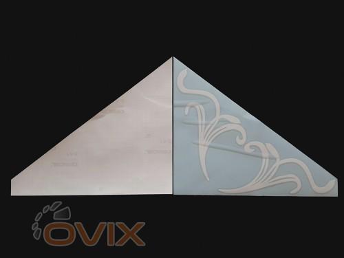 Украина Наклейки на боковые стекла (уголки) - Узор, белые (h=285 мм, l=330 мм) - Картинка 2
