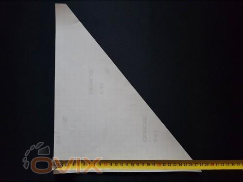 Украина Наклейки на боковые стекла (уголки) - Узор, серебро (h=285 мм, l=330 мм) - Картинка 4