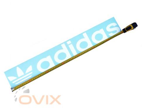 Украина Наклейка на автомобиль (заднее стекло) Adidas с эмблемой, белая (h=110 мм, l=700 мм) - Картинка 3