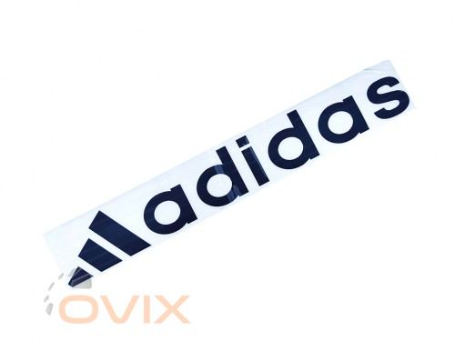 Украина Наклейка на автомобиль (заднее стекло) Adidas с эмблемой, черная (h=110 мм, l=700 мм) - Картинка 1