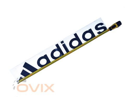 Украина Наклейка на автомобиль (заднее стекло) Adidas с эмблемой, черная (h=110 мм, l=700 мм) - Картинка 2