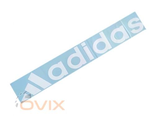 Украина Наклейка на автомобиль (заднее стекло) Adidas, белая (h=105 мм, l=700 мм) - Картинка 1