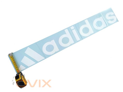 Украина Наклейка на автомобиль (заднее стекло) Adidas, белая (h=105 мм, l=700 мм) - Картинка 3
