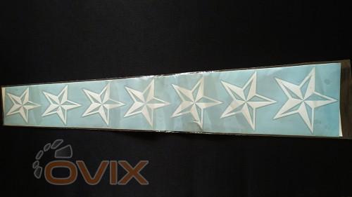 Украина Наклейка на автомобиль Звезды, длина 1 м - Картинка 2