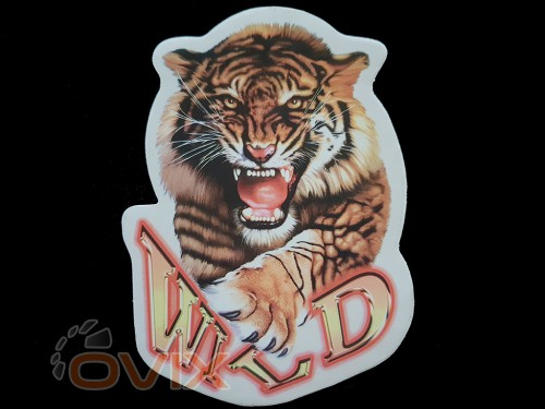 Украина Наклейка на автомобиль Звери - Тигр Wild, цветная (h=195 мм, l=145 мм) - Картинка 1