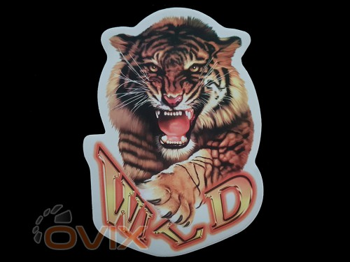 Украина Наклейка на автомобиль Звери - Тигр Wild, цветная (h=240 мм, l=330 мм) - Картинка 1