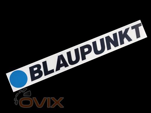 Украина Наклейка на автомобиль (заднее стекло) Blaupunkt, Черная (h=90 мм, l=700 мм) - Картинка 1