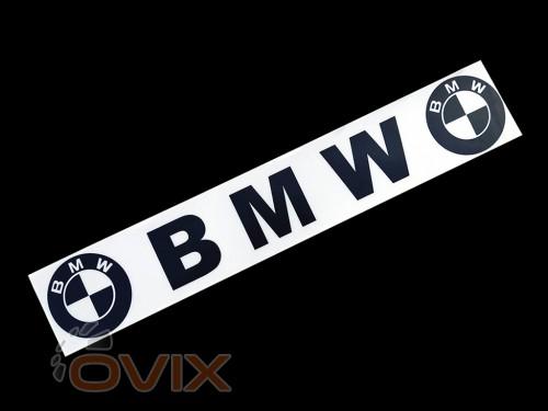 Украина Наклейка на автомобиль (заднее стекло) BMW, черная (h=125 мм, l=700 мм) - Картинка 1