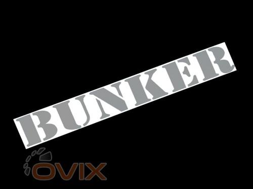 Украина Наклейка на автомобиль (заднее стекло) Bunker, серая (h=110 мм, l=700 мм) - Картинка 1