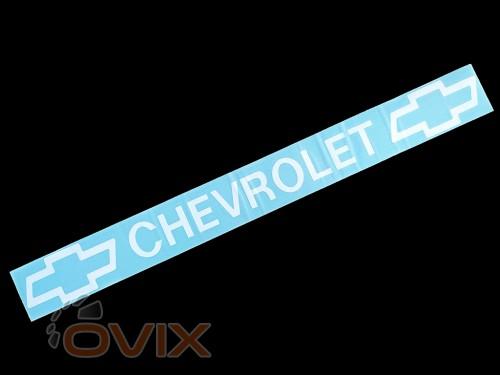 Украина Наклейка на автомобиль (заднее стекло) Chevrolet, белая (h=75 мм, l=700 мм) - Картинка 1