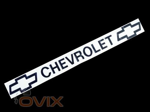 Украина Наклейка на автомобиль (заднее стекло) Chevrolet, черная (h=75 мм, l=700 мм) - Картинка 1