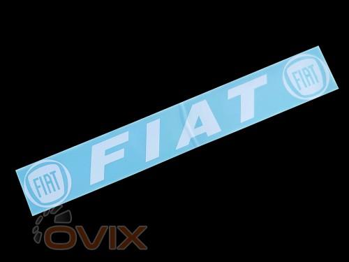 Украина Наклейка на автомобиль (заднее стекло) Fiat, белая (h=105 мм, l=700 мм) - Картинка 1
