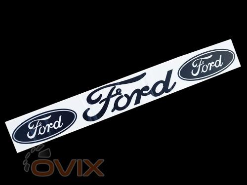 Украина Наклейка на автомобиль (заднее стекло) Ford, черная (h=100 мм, l=700 мм) - Картинка 1