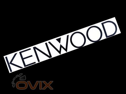 Украина Наклейка на автомобиль (заднее стекло) Kenwood, черная (h=110 мм, l=700 мм) - Картинка 1